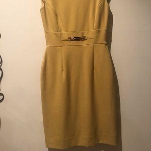 Tahari Marigold Yellow Dress